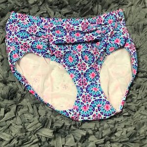 Tribal high waist bikini bottom